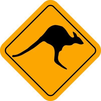 Naklejka Kangaroo Zaloguj