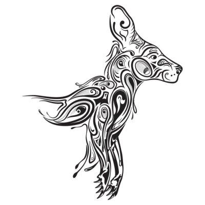 Naklejka Kangaroo zentangle stylizowane, ilustracja, odręczny ołówkiem