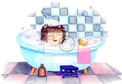 Naklejka kąpielowy