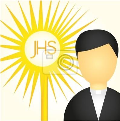 Naklejka Kapłan i Najświętszego Sakramentu
