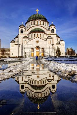 Naklejka Kaplica św Sawy w Belgradzie, Serbia