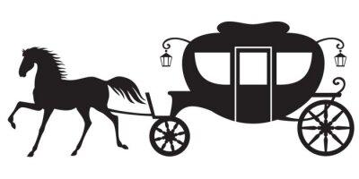 Naklejka Karetki i koń