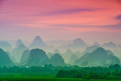 Naklejka Karst Mountains of Guilin, China