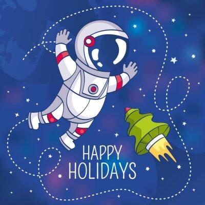 Naklejka Kartkę z życzeniami z astronautów