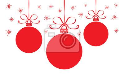 Naklejka kartki świąteczne z kolorowych bil czerwonych