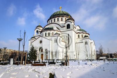 Naklejka Katedra Saint Sava w Belgradzie, w Serbii,