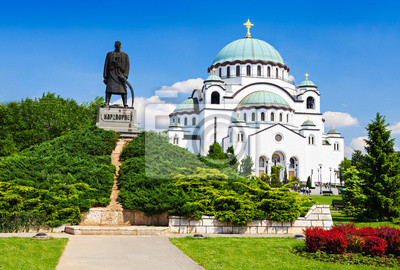 Naklejka Katedra Sava i Karadjordje pomnik