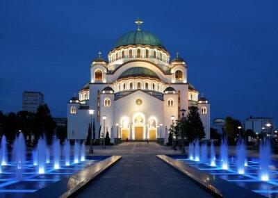 Naklejka Katedra Świętego Sawy w Belgradzie
