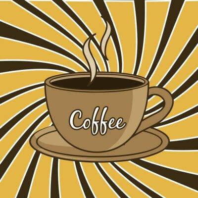 Naklejka kawa