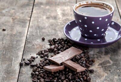 Naklejka kawa i czekolada