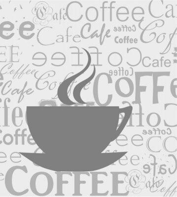 Naklejka Kawa tle