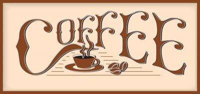 Naklejka Kawa wyraz