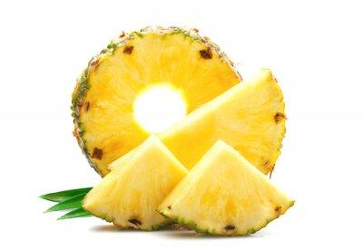 Naklejka Kawałek dojrzałego ananasa.