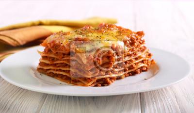 Naklejka Kawałek lasagne
