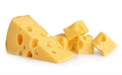 Naklejka kawałek sera izolowane