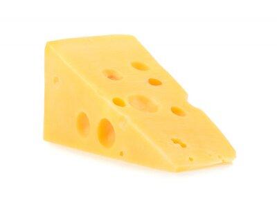 Naklejka kawałek sera izolowane. wszystkich zdjęć z tej serii zobaczyć moje portf