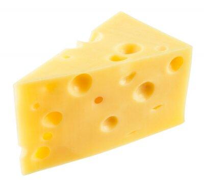Naklejka Kawałek sera izolowane. Z wycinek ścieżki.