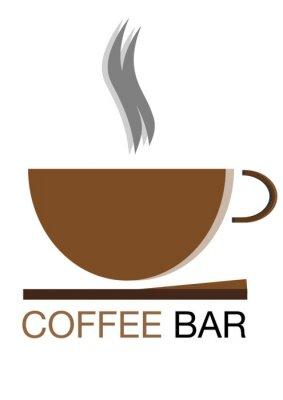 Naklejka Kawiarnia logo