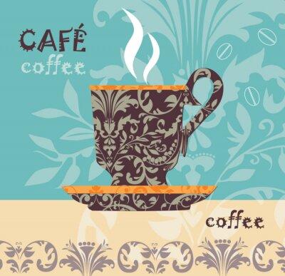 Naklejka kawy wektor