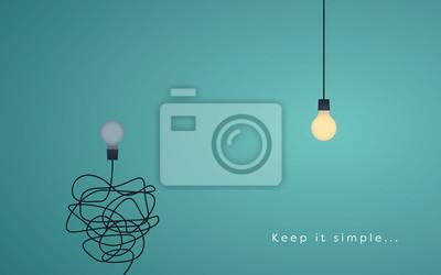 Naklejka Keep it simple biznesowe koncepcję marketingu, kreatywność, zarządzanie projektami.