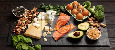 Naklejka Keto dietetyczne składniki żywności
