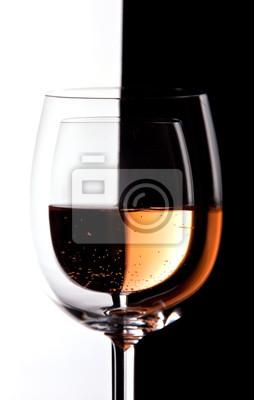 Naklejka Kieliszki do wina z kolei