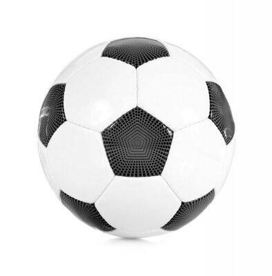 Naklejka Klassischer Fußball schwarz / weiß