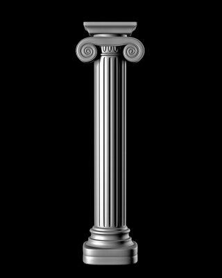 Naklejka Klasyczne kolumny na czarnym tle