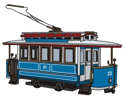 Naklejka Klasyczny tramwaj / Strony rysunku, ilustracji wektorowych