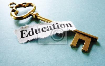 Naklejka Klucz edukacja