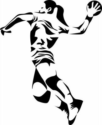 Naklejka kobiet, piłka ręczna