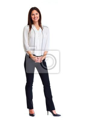 Naklejka Kobieta biznesowych białym tle