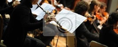 Naklejka Kobieta gra na flecie
