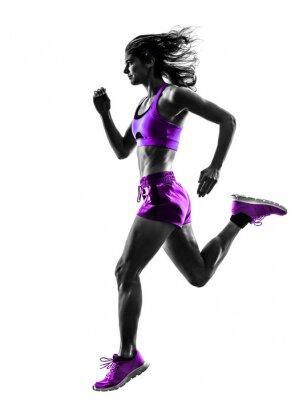 Naklejka Kobieta jogging biegacz jogger sylwetkę