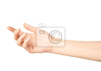 Naklejka Kobieta Kaukaski ręka gest