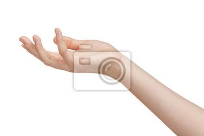 Naklejka kobieta nastolatek coś ręka trzymać