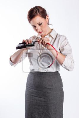 Kobieta podłączenie