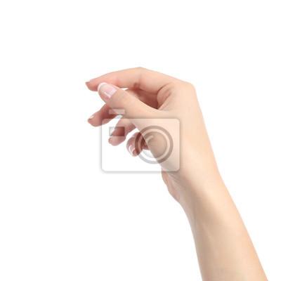 Naklejka Kobieta strony gospodarstwa niektóre jak puste karty