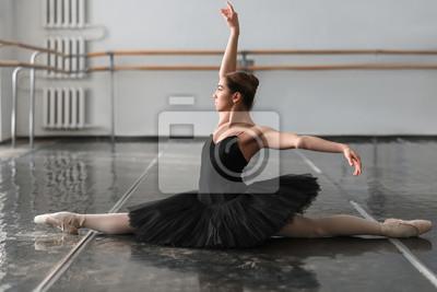 Naklejka Kobieta tancerka baletowa posin na próbę