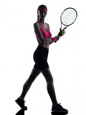 Naklejka Kobieta tenisista sylwetka
