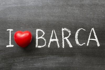 Naklejka Kocham Barca