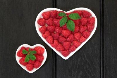 Naklejka Kocham raspeberries