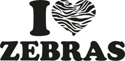 Naklejka Kocham zebry