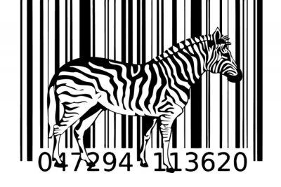 Naklejka kodów kreskowych Zebra pomysł 2