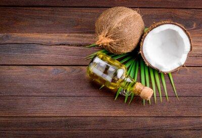 Naklejka Kokosowy i olej kokosowy