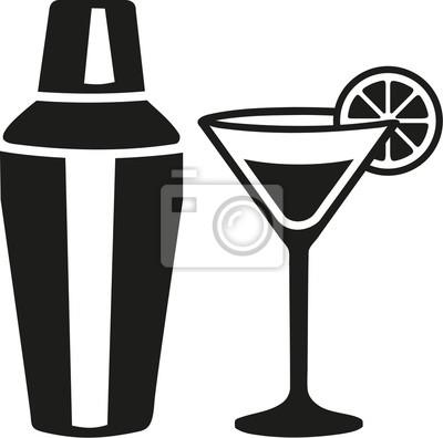 Koktajl martini szkło z shakera