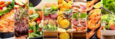 Naklejka kolaż produktów spożywczych