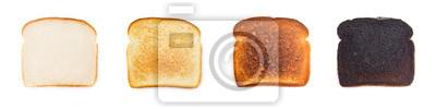 Naklejka Kolaż różnych poziomów ciemności, jeśli chodzi o Toast - Jakie są twoje preferencje?