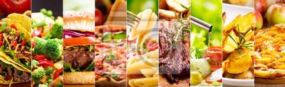 Naklejka kolaż z produktów spożywczych