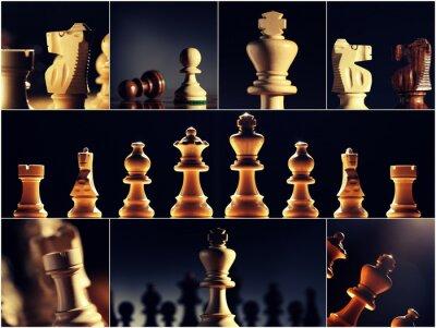 Kolekcja zdjęć szachy